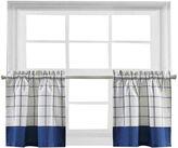 Asstd National Brand Bistro Check Rod-Pocket Window Tiers