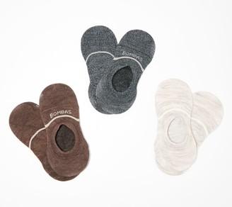 Bombas Set of 3 Lightweight Merino Wool No Show Socks