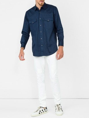 Julien David Front Pocket Shirt Blue