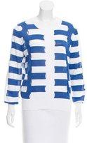 Sandro Striped Cutout Sweater