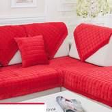 rtryr Winter padded plush sofa ushions/ fashion slip sleeve over/European flannel solid wood ushion