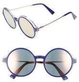 Valentino Women's 53Mm Round Sunglasses - Black Crystal