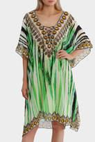 Bondi Beach Bag Co Envy Green Zebra Print Lace Up