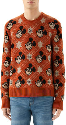 Gucci Men's x Disney Mickey Mouse Jacquard Sweater