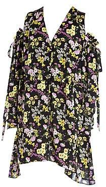 Magda Butrym Women's Trento Botanical Print Cold Shoulder Dress
