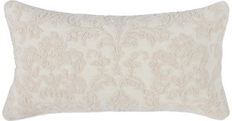 "Kosas Home Olympia 100% Linen 14""x26"" Embroidered Throw Pillow, Ivory"
