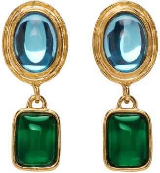 MONDO MONDO Blue and Green Jelly Earrings