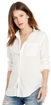 Denim & Supply Ralph Lauren Cotton Boyfriend Shirt