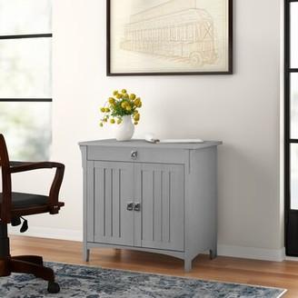 Three Posts Salina Secretary Desk Color: Cape Cod Gray