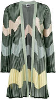 M Missoni pleated stripe cardi-coat