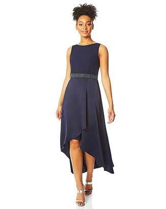 Roman Originals Roman Embellished Dipped Hem Midi Dress