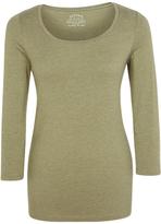Fat Face Laura Three Quarter Length Sleeve Cotton Blend T-Shirt
