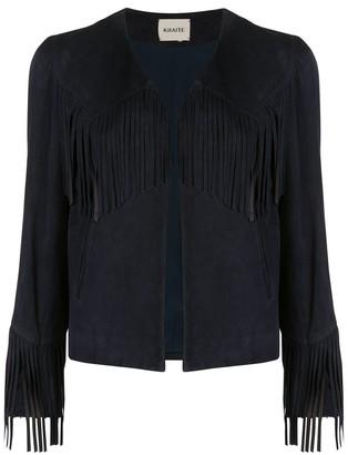 KHAITE Gracie fringed jacket