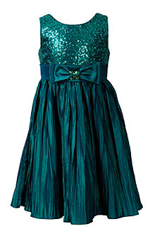 Sweet Heart Rose Girls' 7-16 Teal Sequin Top Dress