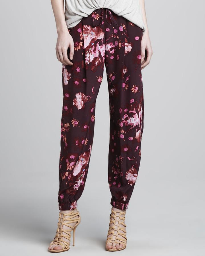 Elizabeth and James Walton Floral-Print Harem Pants