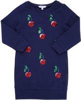 Little Marc Jacobs Sequined Cherries Sweatshirt Dress