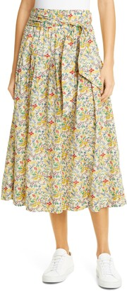 The Great Highland Floral Pleated Midi Skirt