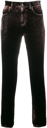 Saint Laurent Velvet Skinny Jeans