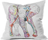 Deny Designs Casey Rogers Elephant 1 Indoor/Outdoor Throw Pillow
