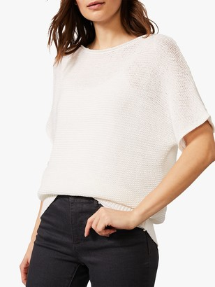 Phase Eight Taiba Tape Yarn Knit Top, White