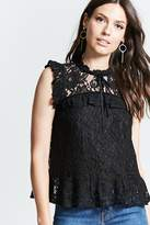 Forever 21 Sleeveless Crochet Lace Top