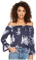 Roxy Moon Sapphire Woven Top Women's Clothing