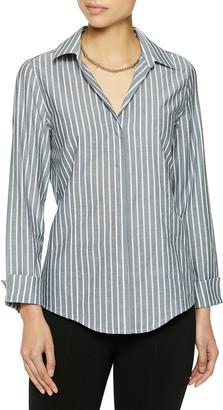 Misook Plus Size Striped Button-Front Shirt