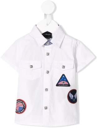 John Richmond Junior badge embroidered shirt