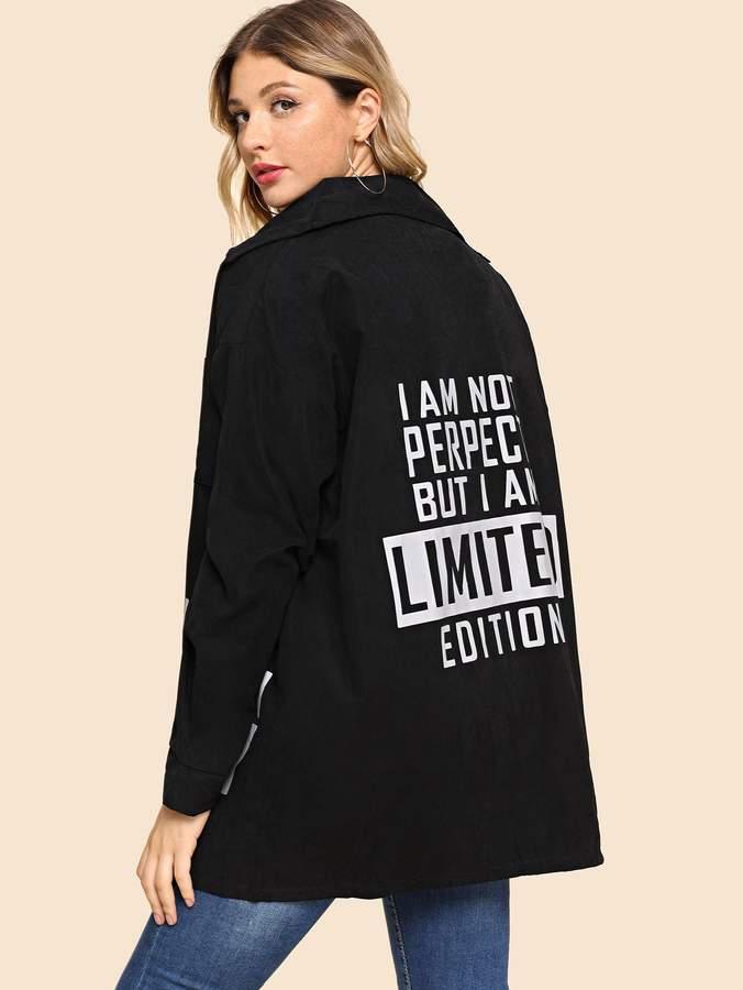 Letter Print Coat