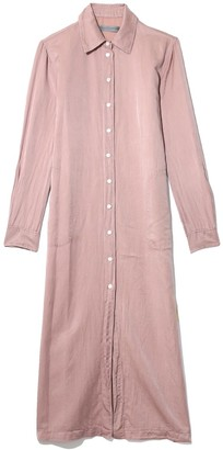 Raquel Allegra Silk Cotton Sateen Tunic Dress in Blush