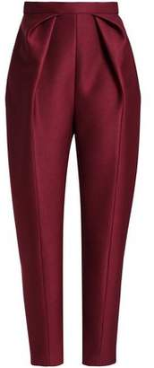 DELPOZO Pleated Neoprene Tapered Pants