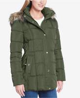 Tommy Hilfiger Faux-Fur-Trim Box-Quilted Coat