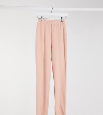 Asos Tall ASOS DESIGN Tall jersey slim suit pants in blush