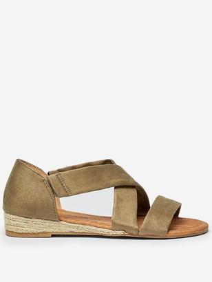Dorothy Perkins Mini Wedge Sandals - Khaki