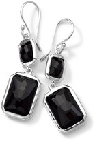 Ippolita Sterling Silver Wonderland Rectangular Mini-Drop Earrings in Onyx