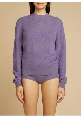 KHAITE The Viola Sweater In Amethyst