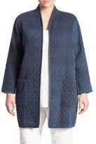 Eileen Fisher, Plus Size Denim Jacquard Jacket