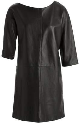 Bouchra Jarrar Black Leather Dress for Women