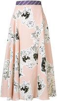 Roksanda floral pleated skirt - women - Silk - 8