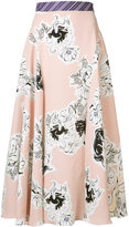 Roksanda floral pleated skirt