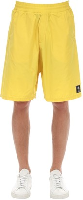 McQ Logo Patch Light Weight Nylon Shorts
