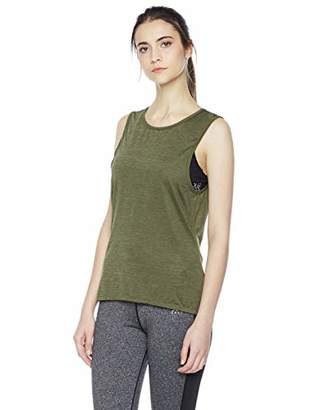 Due East Apparel Women's Workout Clothes Open Back Loose Running Tank Top Shirt
