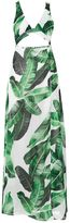 Jaded London **Palm Leaf Print Cut Out Maxi Dress