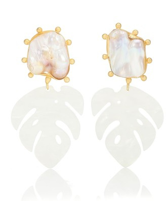 PEET DULLAERT Saba 14kt gold-plated and pearl earrings