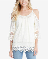 Karen Kane Off-The-Shoulder Lace Top