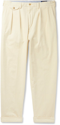 Polo Ralph Lauren Tapered Pleated Cotton-Blend Corduroy Trousers