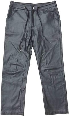 Telfar Silver Cotton Trousers