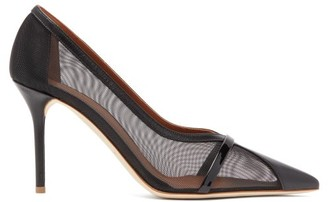 Malone Souliers Brook Mesh And Leather Pumps - Womens - Black
