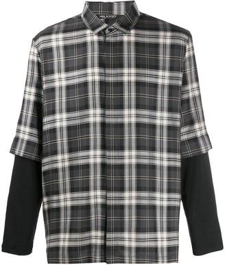 Neil Barrett Checked Loose-Fit Shirt