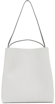 Aesther Ekme White Canvas Square Sac Tote